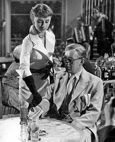 Audrey as Chiquita in a scene with Alec Guiness in The Lavender Hill Mob, 1951