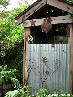 how awesome is this outdoor shower so rustic I love it