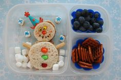Snowman  - very cute lunchbox idea! christmas parties, kid lunches, school, lunch boxes, designer handbags, chicken dishes, food, bento, fall weddings