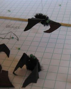 Casey's Minis: New Bats in My Belfry......bat tutorial for Halloween miniatures, tutorials, dollhous, casey mini, diy bats, minis, miniatur mania, belfri, halloween