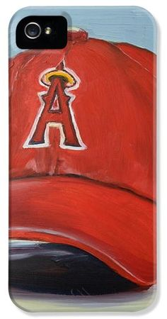 Baseballs Iphone Cases - The Los Angeles Angels of Anaheim iPhone Case by Lindsay Frost