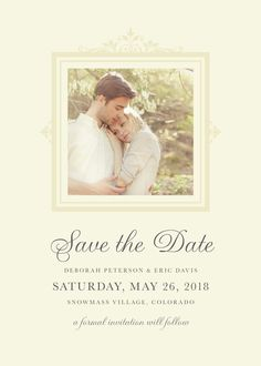 Kleinfeld Paper || Brocade Border Save-the-Date