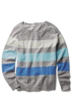 Striped cashmere sweater.