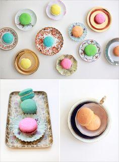sweet treat, tea parti, macaron, pumpkin, color, french macaroons, cooki, plate, egg whites