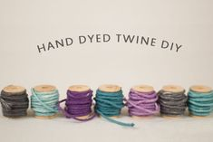 For those who like colored string on their bags - just pull it out, dye it and re-insert.