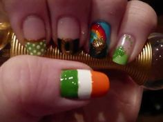 St Patrick's Day nail art tutorial!!