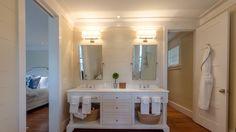 double bathroom vanity, plank walls, Portfolio - Wayne Windham Architect