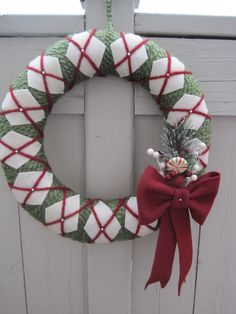 Argyle holiday wreath