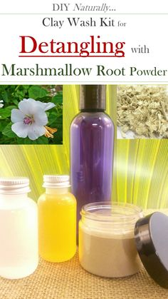 DIY Marshmallow root detangling wash