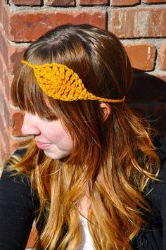 DIY: crochet leaf headband