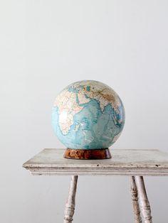 vintage world globe / 1960s globe