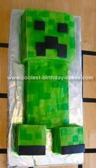 "Homemade Minecraft Creeper Cake"" data-componentType=""MODAL_PIN"