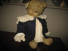 "19C Jointed Bear.....Straw Stuffed....25"" Tall"