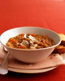 """Copy Editor Samantha Laros' favorite: Lentil Soup. """"In my household soup is served every Sunday during the fall and winter time, and this is one of my favorites to make each year as soon as it turns cold. It says in the directions to pour out all but 1 tbsp. of the grease after cooking the bacon, but I like to slip a little more into the soup. It gives it a stronger flavor, and I figure if you're going to use bacon, you might as well go big. I also add a few chunks of feta cheese."""""""