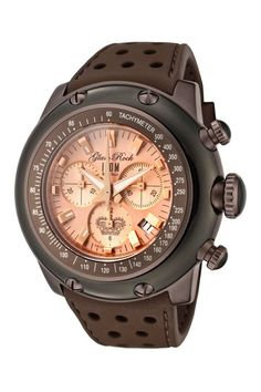 Glam Rock Men's Miami Chronograph Watch brown rose gold