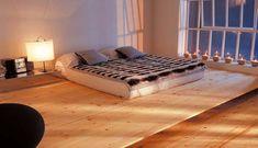 Beautiful Marble Floor Design to Your House: Cozy Wooden Floor Designs In MInimalist Rusic Bedroom Interior Style Platform Bedroom Design Wi...