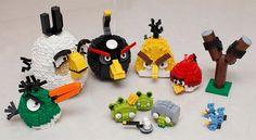 Angry Bird legos.