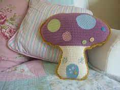 Toadstool cushion - awesome Etsy listing at https://www.etsy.com/listing/161179210/toadstool-mushroom-cushion-a-crochet-pdf