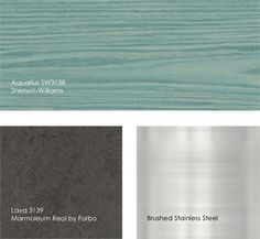 Kitchen colors - would remind me of the ocean everyday :)
