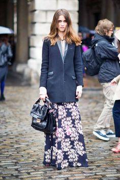 Maxi, plus blazer #streetstyle