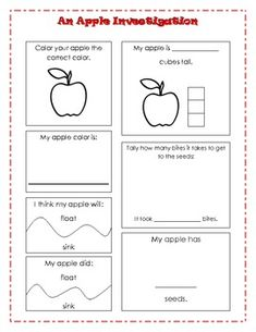 Apple Investigation- good ideas for graphing during the apple unit
