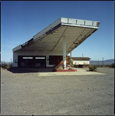 Abandoned service station, along old Route 66, Ludlow, California.