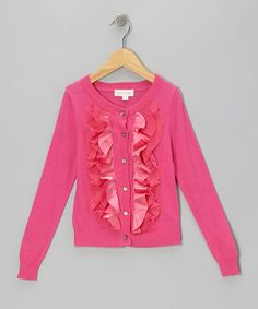 Pink Ruffle Cardigan - Toddler & Girls by Trish Scully Child on #zulily