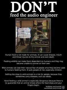 Respect the wildlife, don't feed the audio engineer. http://ow.ly/i/5S7yT