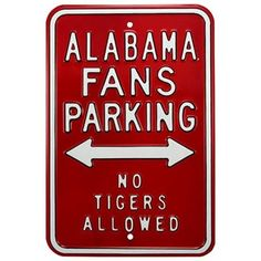 Alabama Crimson Tide Crimson Parking Sign