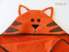 DIY Hooded Towel Pattern- Monkey, Panda, Tiger (Jungle Animals)