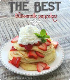 The BEST buttermilk pancake recipe ever!