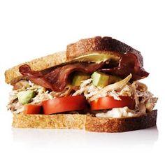 Chicken, Avocado, and Turkey-Bacon Sandwich | MyRecipes.com #myplate #fruit #veggies #protein #wholegrain
