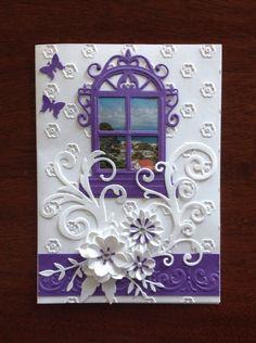 Card with Spellbinders window one die
