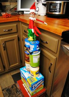 Elf on the Shelf - Mt. Pantry love it! Adding it to be list for Elfie this year