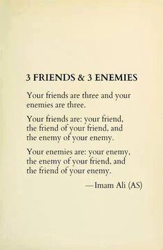 3 friends & 3 enemies