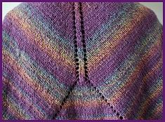 Mendocino Shaped Shawl - free shawl pattern - Crystal Palace Yarns