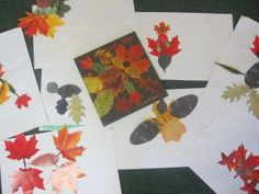 """L is for Leaves, Read Leaf Man by Lois Ehlert and then make our own """"leaf men"""""""