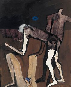 Keith Vaughan (English, 1912-1977), Three Figures, 1965. Gouache, brush and black ink, 12¾ x 10½ in.