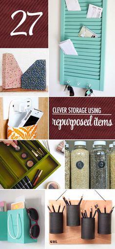 repurposed organization idea | Clever Storage Using Repurposed Items