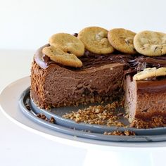 Peanut Butter Cookie Dough Chocolate Cheesecake