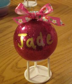 #NUO2012 Glitter Filled Ornaments @lisastuf @mvemother