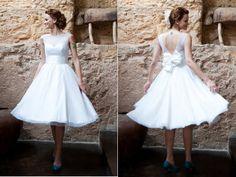 Vestido de noiva curto: veja quando e como usar - Notícias - Noivas GNT