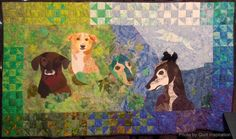 """""""Forever Friends""""  by Jude Edling. 2013 Houston IQF, photo by Quilt Inspiration"""