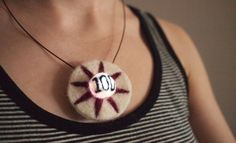 Needle Felted Pinball Bumper Necklace