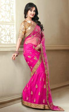 Ravishing Rani Pink Saree