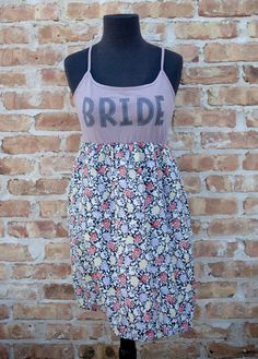 Super cute Handmade Bride Dress Perfect for Showers and Rehearsals and even getting ready day of!!! $49.00