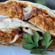 """BBQ Chicken Calzones 