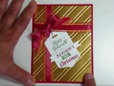 ▶ The Finger Bow - YouTube christmas cards, finger bow, ribbon, easi bow