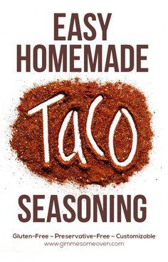Homemade Taco Seasoning |