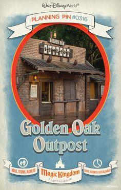 Walt Disney World Planning Pins: Golden Oak Outpost